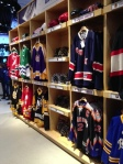 The fake locker room display at the NHL Store in Midwtown Manhattan, empty -- just like real NHL locker rooms as the labor dispute continues.