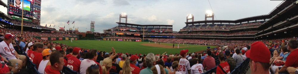 Panorama of Citizens Bank Park.