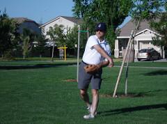 Me throwing a baseball